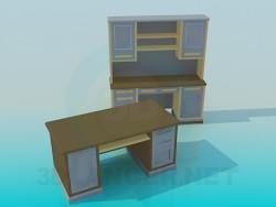 Escrito and desk for working Cabinet