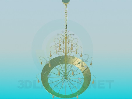 descarga gratuita de 3D modelado modelo Metal y oro araña