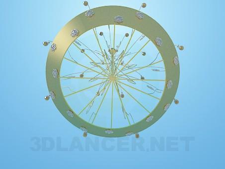 modelo 3D Metal y oro araña - escuchar