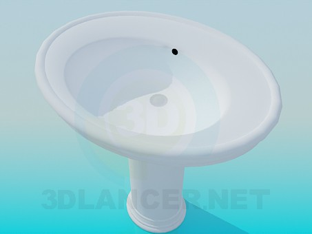 3d model Round sink - preview