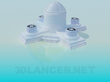 3d modeling Ventilation system model free download