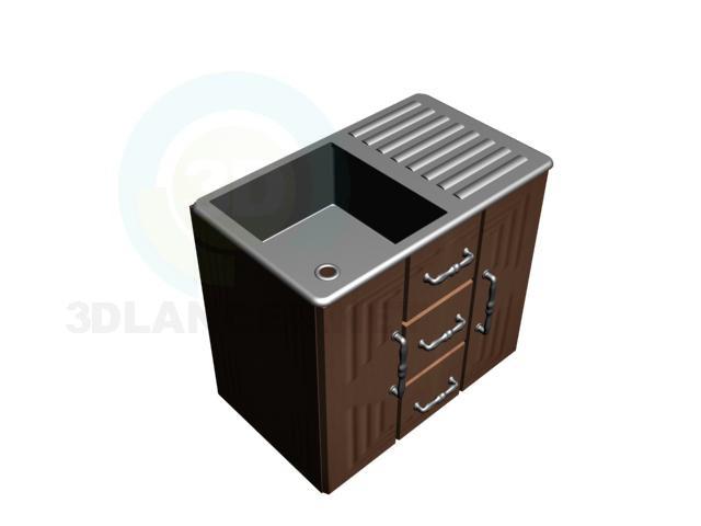 3d model Pedestal sink - preview