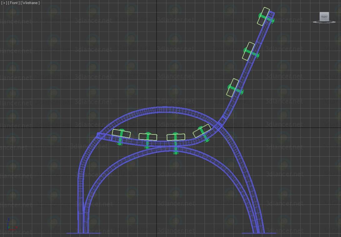Banco del parque 3D modelo Compro - render