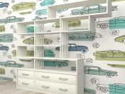 muebles de pared en el vivero