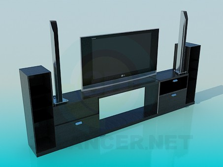 3d model LG TV - preview