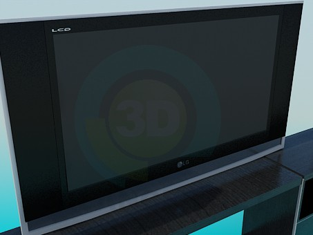 modelo 3D LG TV - escuchar