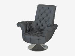 Armchair leather in art-deco style B141 80