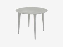 Table de repas ronde (frêne teinté blanc D90)