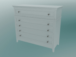 Chest of drawers with legs (White)
