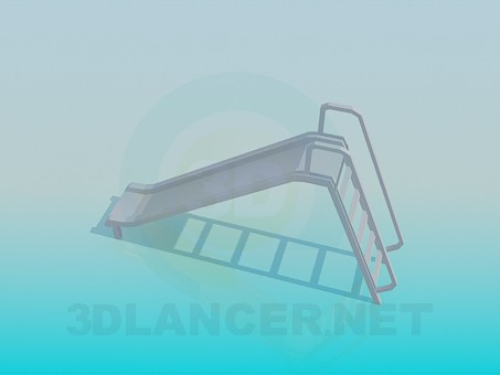 3d model Children's slides - preview