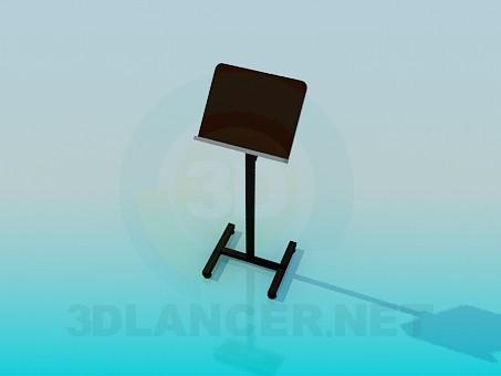 modelo 3D pedestal para el discurso - escuchar