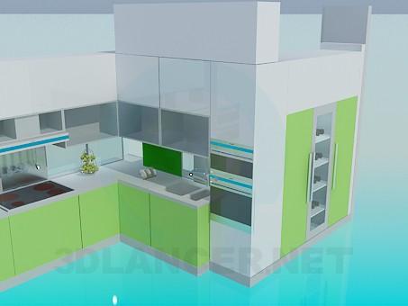 3d модель Кухня минимализм – превью