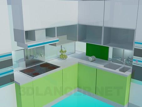 modelo 3D Minimalismo cocina - escuchar