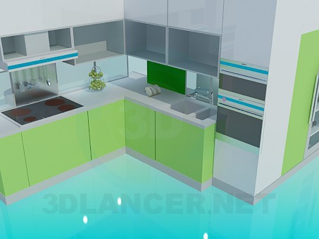 3d model Kitchen minimalism - preview