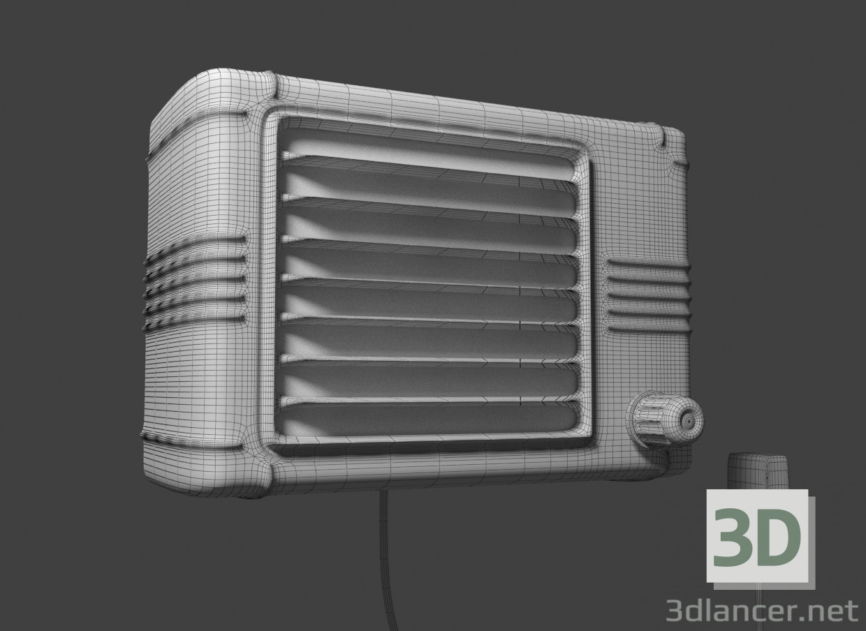 3d model Old radio - preview