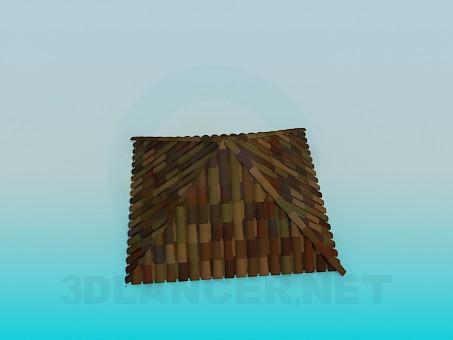 3d modeling Roof tiles model free download