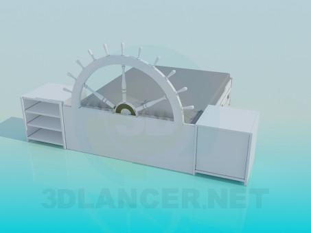modelo 3D Cama - escuchar