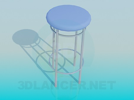 3d modeling High stool model free download