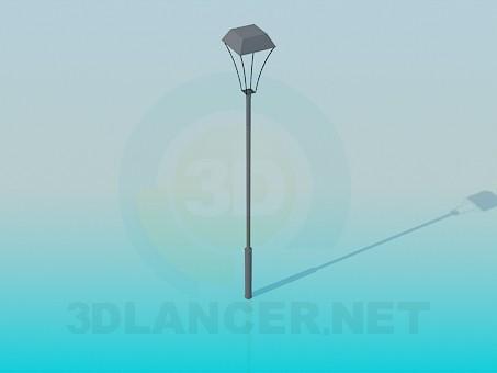 3d modeling Street lamp model free download