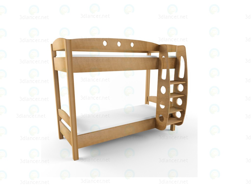 "3d model two-tier bed ""Frigate"" - preview"
