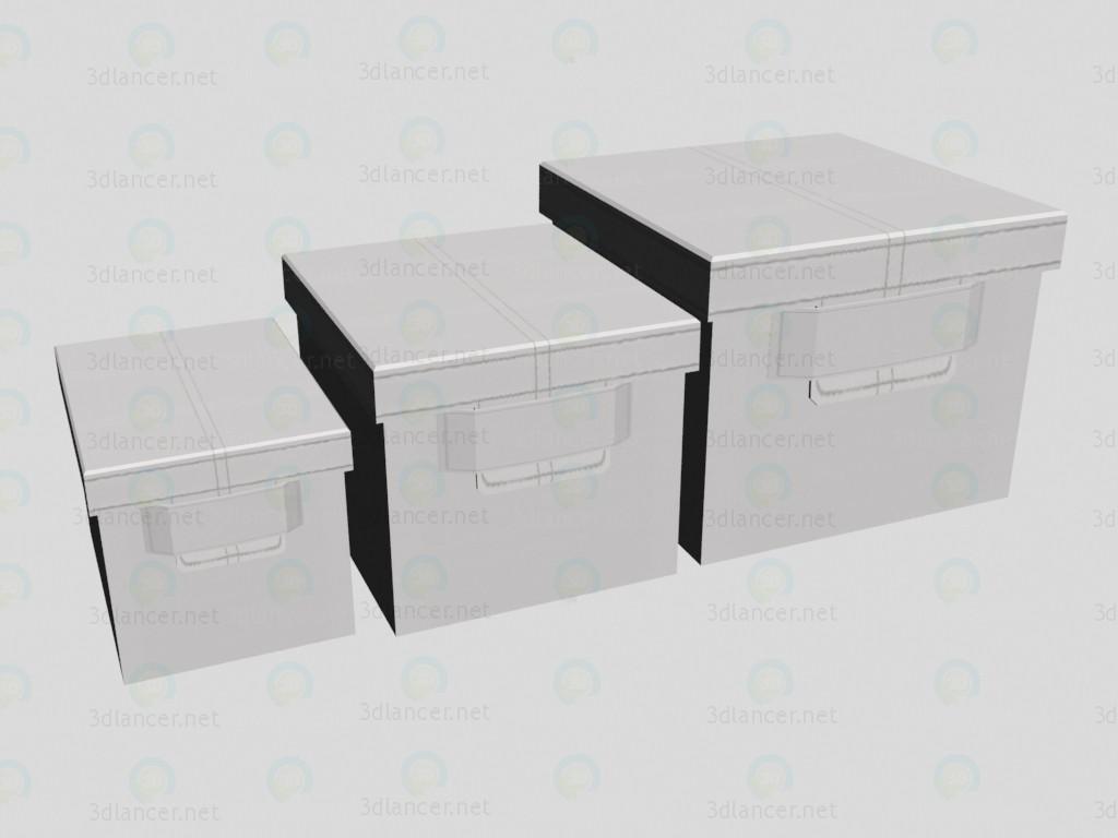 3d модель Коробки Estelle – превью