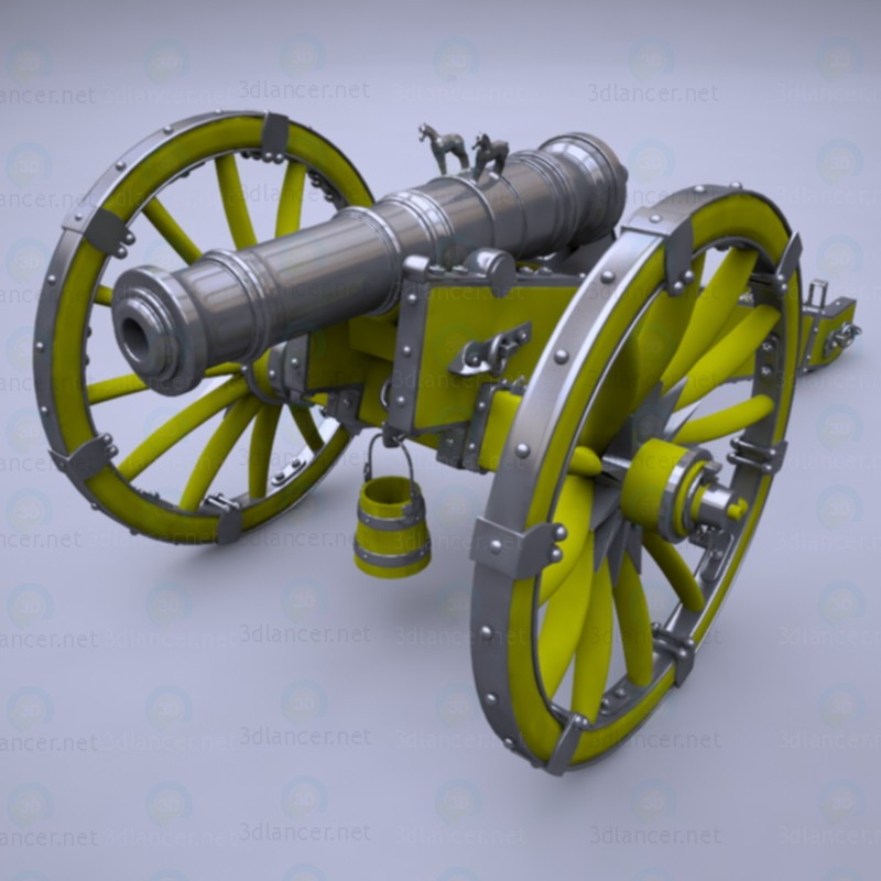 "Cannon ""Unicorn"" paid 3d model by Nicu_Tepes preview"