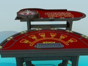 Poker table and roulette