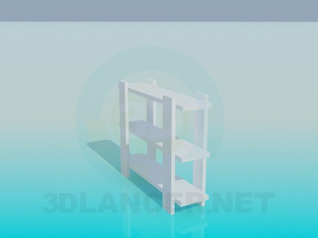 3d model Low bookcase - preview