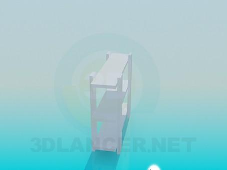 modelo 3D Librería baja - escuchar