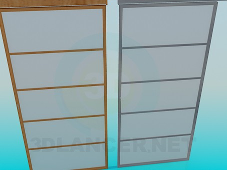 modelo 3D Puertas plegables - escuchar