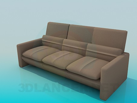 3d model Sofa with cushions - preview