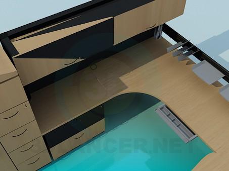 3d модель Комплект мебели для рабочего кабинета – превью