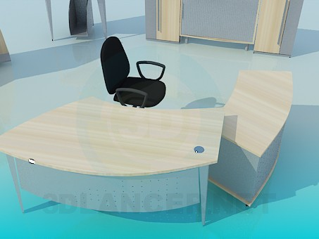 3d model A set of office furniture - preview