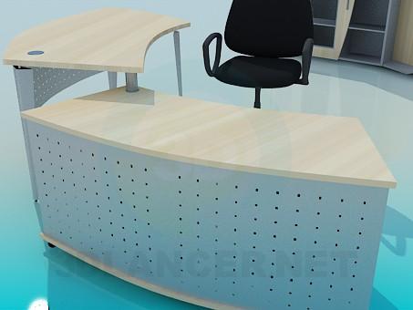 3d модель Набор офисной мебели – превью
