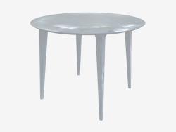 Table à manger ronde (frêne laqué blanc D100)