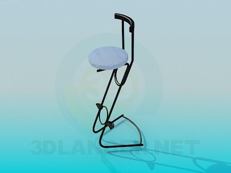 3d модель Стілець для бару – превью
