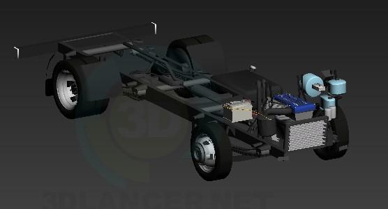 3d модель Рама + мотор – превью