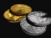 Золотая и серебряная монета