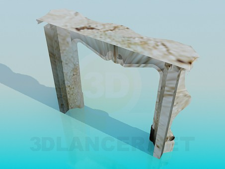 3d model Marble Fireplace - preview