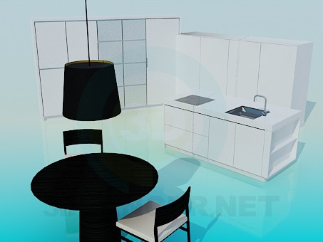 3d model The furniture in the kitchen - preview