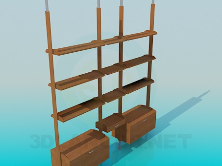 3d model Rack for books - preview
