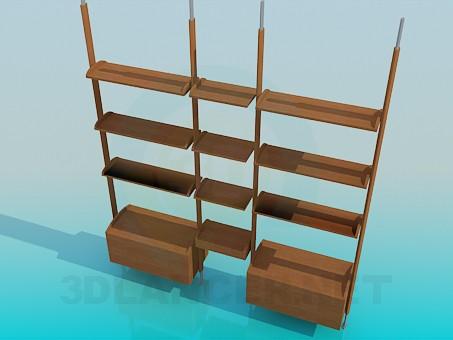 3d модель Стелаж для книг – превью