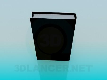 3d модель Книга у твердій палітурці – превью