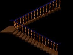 escalera con balaustres