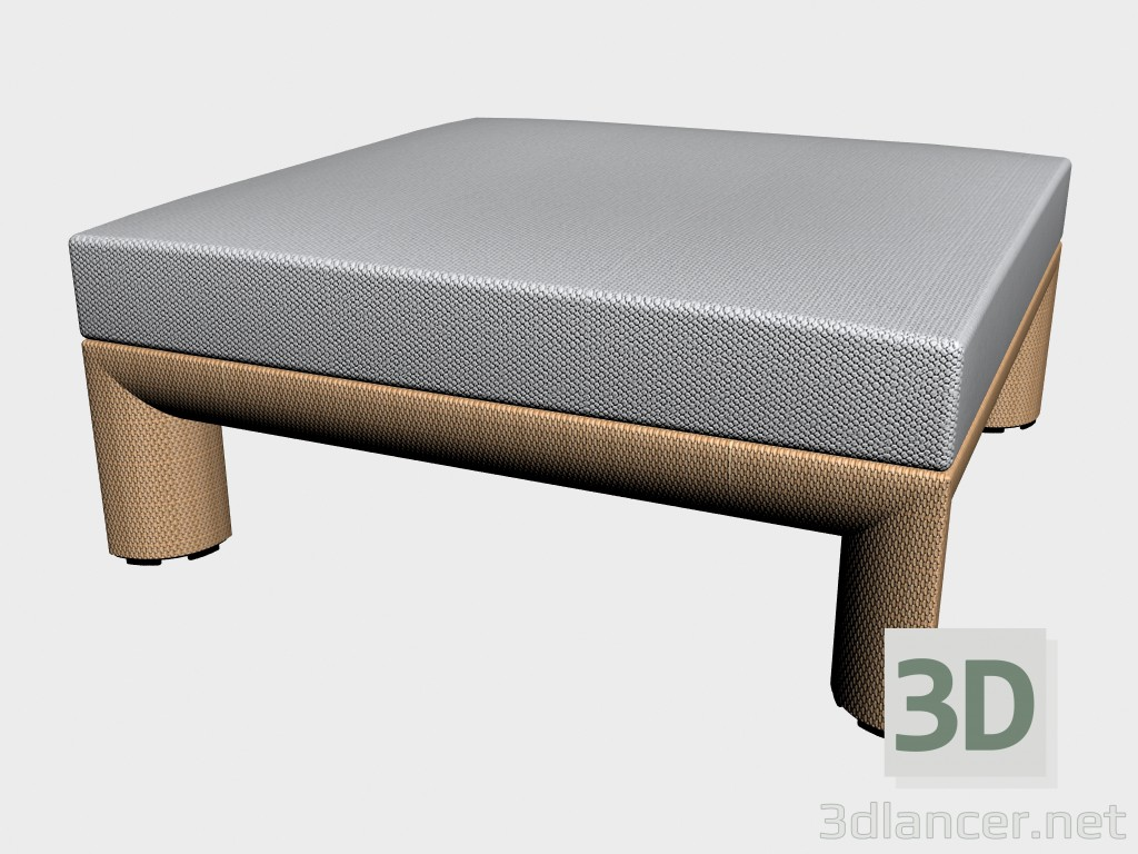 3d model Pouf Footstool 8830 to 8835 feet - preview