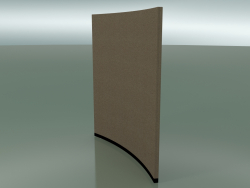 Curved panel 6407 (132.5 cm, 36 °, D 200 cm, solid)