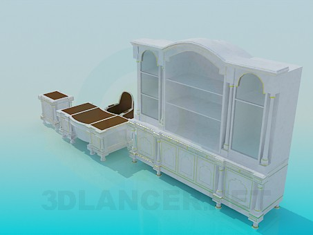 3d model Office furniture - preview
