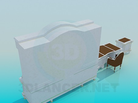 3d модель Меблі для кабінету – превью