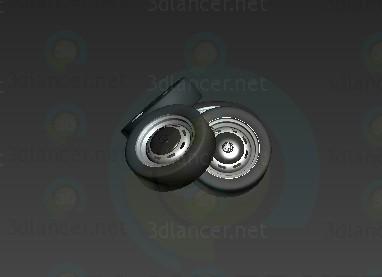 3d model rueda - vista previa