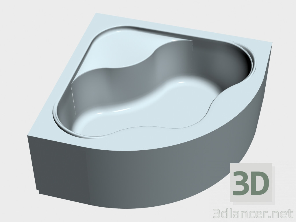 Modele 3d Baignoire D Angle Avec Panneau Gentiana 140 Ravak